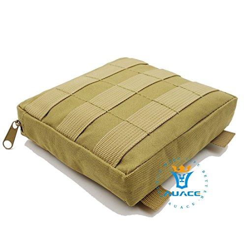 15x 15cm Ultra-Multifunktions Survival Gear Tactical Beutel MOLLE-Tasche, Outdoor Camping Tragbare Travel Bags Handtaschen Werkzeug Taschen Taille Tasche Handytasche KH