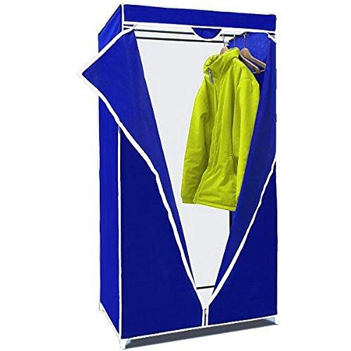 Vetrineinrete Armadio in tessuto guardaroba con appendiabiti in stoffa mobile 160x75x50 cm per casa e campeggio F47