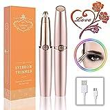 Epilatore Sopracciglia Indolore, Eyebrow Hair Remover da donna, 2020 Nuovo Elettrica Depilatore per Sopracciglia, Per Le Sopracciglia Rimodellante e Lisciatura (Ricarica USB)