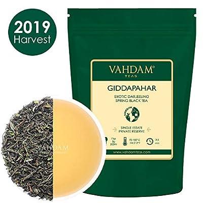 VAHDAM, Premier Thé 2019 de Exotic Giddapahar Thé Estate | 3,53 oz, 100g | Feuilles de thé noir cueillies à la main exclusives | Un thé noir parfait pour tous les jours