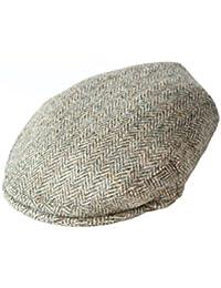 91b455cb4f14f Harris Tweed Mens Herringbone Flat Cap - Various Colours