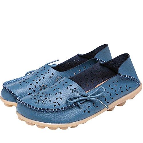 Vogstyle Ladies Casual Slipper Flat Shoes Scarpe Basse Piselli Scarpe Blu Scuro Art 2