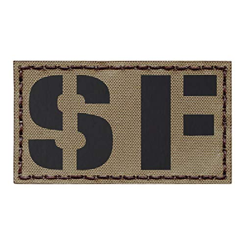 IR Tan SF Special Forces US Army SOF 2x3.5 Coyote Tactical Morale Touch Fastener Patch Special Forces Shoulder Tab