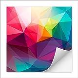 Aufkleber drucken mit Ihrem individuellem Motiv | quadratisch 50x50mm | Oberfläche glänzend | Kleber festhaftend | 1400 Stück