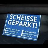 Die Scheisse Geparkt! Notizzettel mit StVO für die Windschutzscheibe im 50er Set - 4