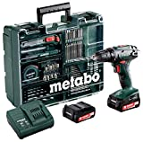 Metabo 60220688 14,4 Set Workshop 74 Acc BS 14.4 Mobile Werkstatt 2,0 Ah, 10 mm, SC 60 Plus, 14.4 V