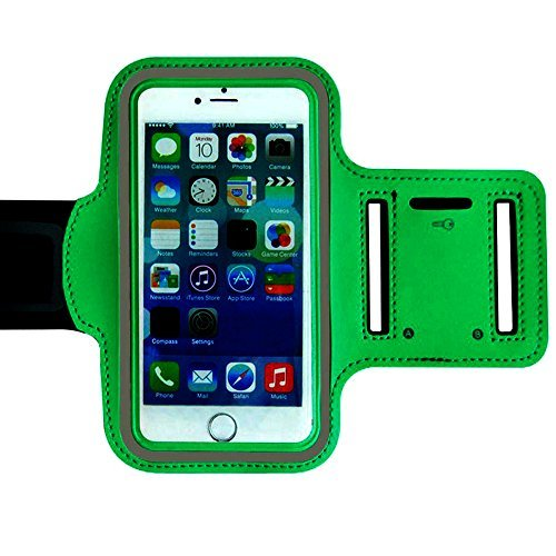 Ambielly Sport Armband modo di allenamento della copertura di sport di ginnastica Pennello cassa del bracciale di superficie braccio porta Banda per iPhone 6 Plus ...
