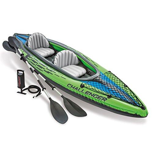 Intex - Kayak hinchable Challenger k2 & 2 remo, 2 personas - 351 x 76 x 38 cm (68306) (modelo...