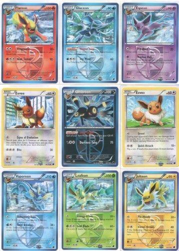 Team Plasma Eeveelutions Master Set (9 Pokemon Cards) ft. Umbreon, Glaceon, Leafeon, Flareon, Jolteon, Espeon, Vaporeon and Eevee from Plasma Freeze (Pokemon-master-set)
