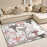 JSTEL INGBAGS Super weicher, moderner niedlicher Baby-Teppich, Wohnzimmerteppich, Schlafzimmer-Teppich für Kinder, Spielteppich und Teppiche, 203,2 x 147,2 cm