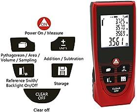 Rebzar A-100 Digital Laser Distance Meter Precise Laser-Tape Measurer for Construction Calculation of Length Area, 0.02-100m (A100 Laser Meter)