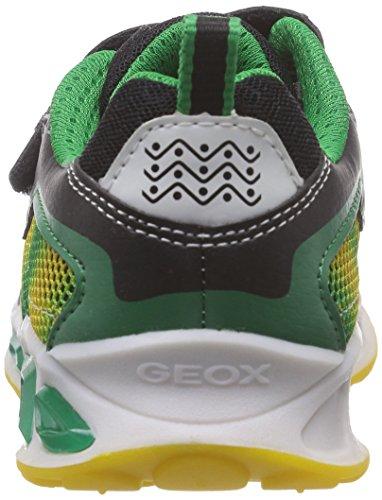 Geox Jungen J Shuttle Boy A Sneakers Mehrfarbig (BLACK/YELLOWC0054)