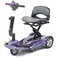 Pro Rider Travelite Electric Folding Compact Mobility Scooter, Purple