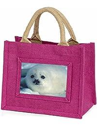 Snow White Sea Lion Little Girls Small Pink Shopping Bag Christmas Gift