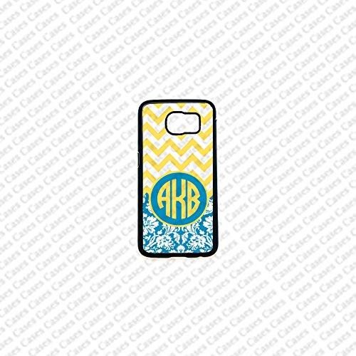 Krezy Case Monogram Samsung Galaxy S6 Edge Case, Chevron Pattern monogram Samsung Galaxy S6 Edge 2 Cover, Cute Samsung Galaxy S6 Edge Case, Cute Galaxy Edge2 Case