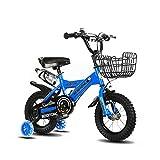 FINLR-Kinderfahrräder Jungen Mädchen Baby Kinderfahrräder Kind Tretfahrrad 4 Farben 12/14/16/18/20 Zoll Mit Stabilisatoren Und Flaschenhalter (Color : Blue, Size : 20 inches)