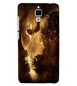 ColourCraft Lion Look Design Back Case Cover for XIAOMI MI 4