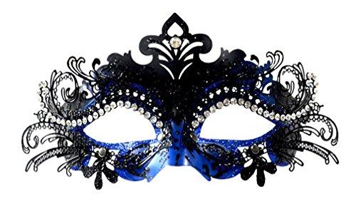 Venezianische Maske, Coofit Masquerade Maske Metall Maskenball Masken Venedig Maske Maskerade Maske Damen Herren (Maskerade Masken Blau)