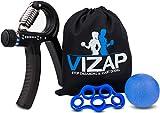 VIZAP® 3er-Set Premium Fingerhantel (30-70kg) /Handtrainer/Fingertrainern/ Unterarmtrainer perfekt zur Stärkung der Hand- & Unterarmmuskeln – inkl. einem hochwertigem Aufbewahrungsbeutel