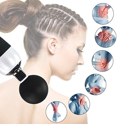 Proxoxo Massagegerät Massagestab,Magic Wand Massager Stark Vibratoren mit 7 Intensiv Vibrationsmodi und 4-Speed Vibrating Massagegerät für Körper, Nacken, Schulter, Rücken - 7