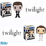 "Funko POP! Twilight: Bella ""Wedding Dress"" + Edward ""Tuxedo"" Vinyl Set NEW"