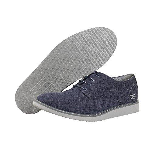 Dude Shoes Mens Verona Stretch Navy Derby Shoe blue