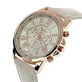 Best Geneva looking watch - Bluester Wristwatch,New Women's Fashion Geneva Roman Numerals Faux Review
