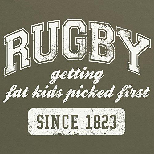 Rugby University T-Shirt, Herren Olivgrn