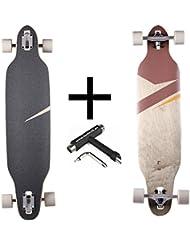 'RAM Longboard S/S15lokz Drop Through 38Chestnut + Fan tic26Skate Tool