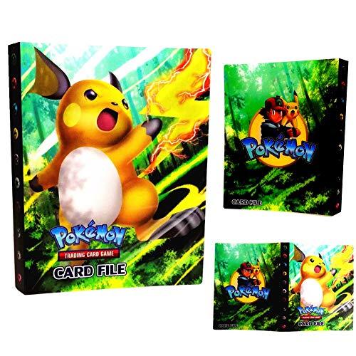 Dorara Pokemon Kartenhalter, Pokemon Karten GX EX Trainer Alben, Sammelkartenalben, 30 seitig Kann bis zu 240 Karten aufnehmen (Raichu)