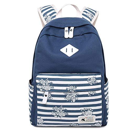 XHYYQX Canvas Rucksack weibliche Schultasche Freizeitreiserucksack leichte Business-Tasche @ Navy blau (Rucksack Mädchen Vans)