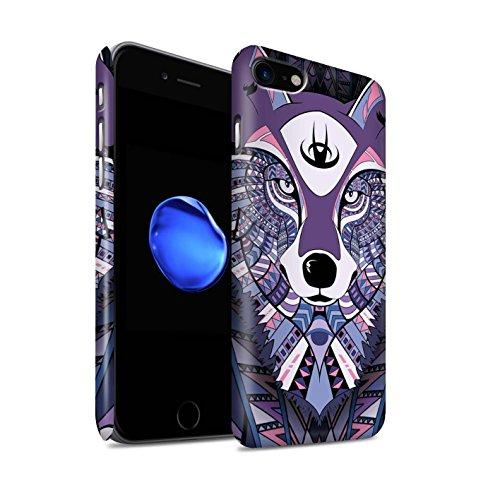 Clipser Matte Coque de Stuff4 / Coque pour Apple iPhone 7 Plus / Loup-Pourpre Design / Motif Animaux Aztec Collection Loup-Pourpre
