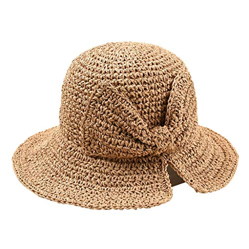 QUINTRA Hut-Sommer-Frauen-Normallack-Faltbare Strohhüte Beach Sunscreen Breathable Sun Hat