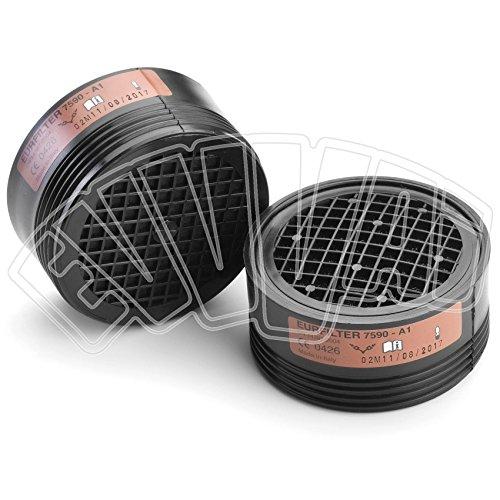 2Stück–Filter A1Für Halbmaske–Schutz Gase und Dämpfe–Maske Sicherheit (Sauerstoff Sicherheits-maske)