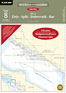 Sportbootkarten Satz 08: Adria 2. 2014: Zirje - Split - Dubrovnik - Bar