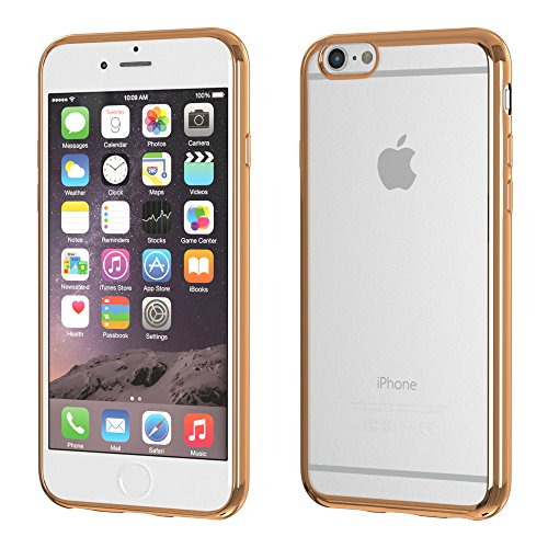 Apple iPhone SE / 5S / 5 Hülle, EAZY CASE Chrom Cover - Premium Handyhülle als Schutzhülle im Metallic Design in Gold Bronze