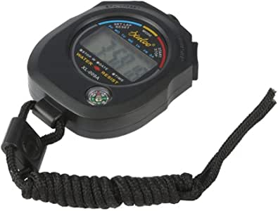 Bleu Portable LCD Minuterie Numérique Chronomètre Sport Compteur kilométrique étanche chrono