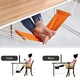 Fuß Hängematte, Togather Verstellbare Fußhängematte Fußstütze unter dem Schreibtisch (Orange)