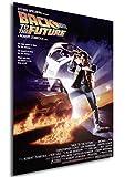 Instabuy Poster Back to The Future Vintage Retour vers Le Futur Affiche - A3 (42x30 cm)