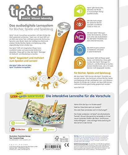 Ravensburger-tiptoi–Buch-Merken-und-Konzentrieren-Mein-Lern-Spiel-Abenteuer-ABC-Buchstaben-Lernen-Poster-mit-Tieren-tip-toi-Schule-Zahlen
