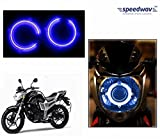 #3: Speedwav Bike Halo CCFL Tube Angel Eyes Light BLUE-Yamaha FZ-S