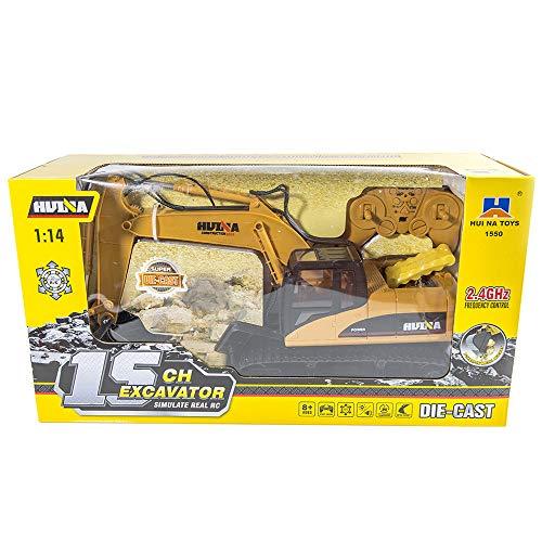 RC Auto kaufen Kettenfahrzeug Bild 4: Hunpta@ Fernbedienung Auto 1:14 rc LKW 15 Kanal voll funktionale Fernbedienung Bagger Bau Traktor Spielzeug Geschenk (A)*