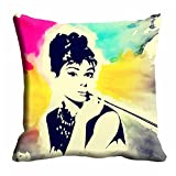 meSleep Abstract Face Cushion Cover (16x16) best price on Amazon @ Rs. 175
