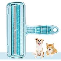 Kinkaivy Tierhaarentferner Fusselrolle, Fusselbürste für Hundehaare Katzenhaare, Tierhaare fusselroller Wiederverwendbar, Effektiv für Möbel, Bettwäsche, Couch, und mehr.