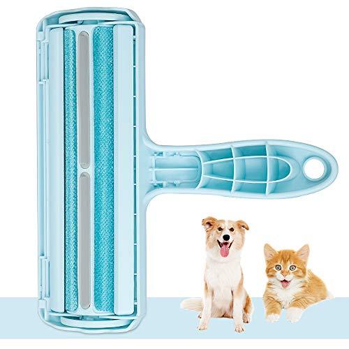 kinkaivy Tierhaarentferner Fusselrolle, Fusselbürste für Hund und Katze, Tierhaar Roller Wiederverwendbar, Effektiv für Möbel, Bettwäsche, Couch, Teppich und mehr. ...