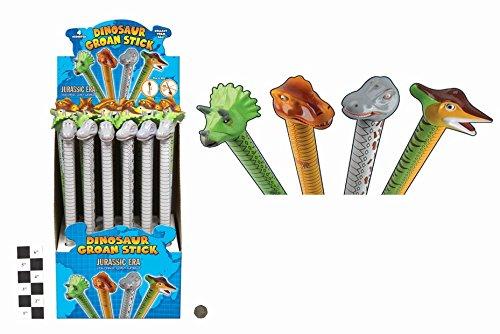 Preisvergleich Produktbild 10 X 42 cm Dinosaurier Groan Tube - Slide Up + Down Für Ton - Party Bag Spielzeug
