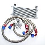 PAG Motorsport Universal Zusatz Ölkühler Set 13 Reihen inkl. Anschluss-Set