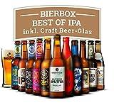 India Pale Ale (IPA) Set: 11 Flaschen (0,33l) erlesenes Craft Bier mit passendem Glas ideal als Geschenk