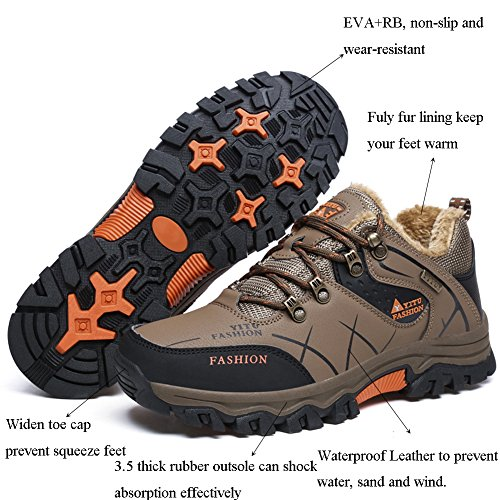 GOMNEAR Wandern Stiefel Herren Trail Mountain Schuhe für Walking Travel Camping Outdoor Sneaker Plus Size Verfügbar Khaki