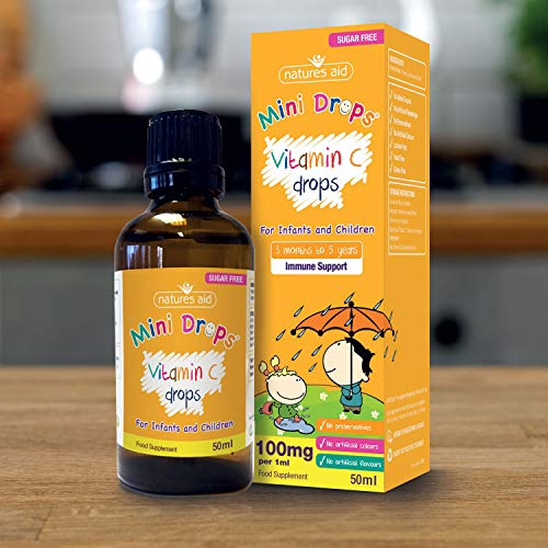 (3 months-5 years) Vitamin C 100mg Mini Drops for infants & children 50ml -